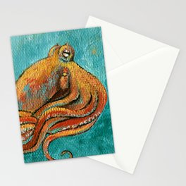 the octopus Stationery Cards