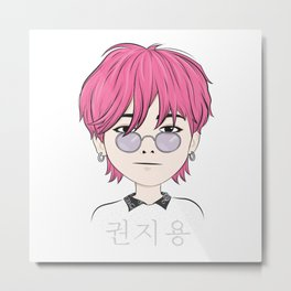 G-Dragon (GD) Chibi Art Metal Print