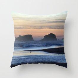 Cannon Beach Oregon Throw Pillow
