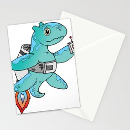 Jet Pack Dinosaur Stationery Cards