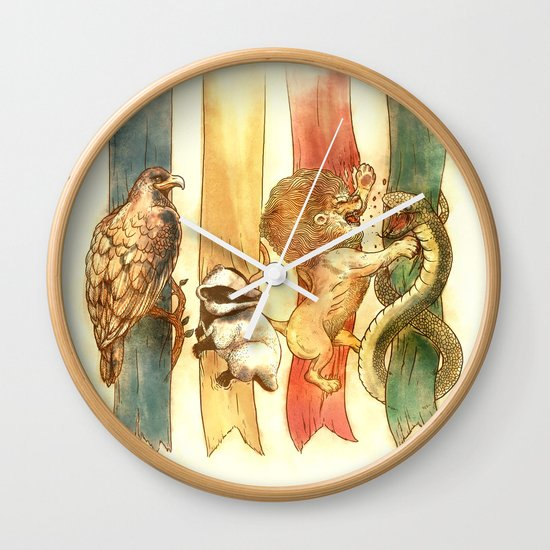 House Brawl Wall Clock