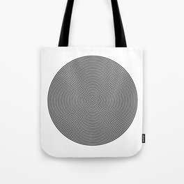 Hypnotic Circles optical illusion Tote Bag