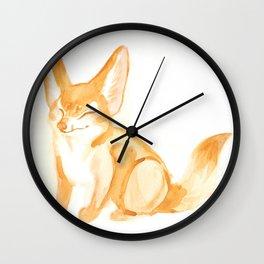 Watercolor Fennec Fox Kit Wall Clock