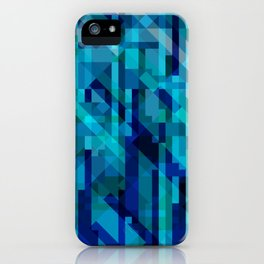 abstract composition in blues iPhone Case