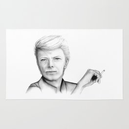 David Bowie Portrait Rug