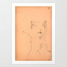 2015 Collection • Girl Powder Uno Art Print