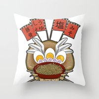 ramen Throw Pillows featuring Ramen Love by ColourMoiChic