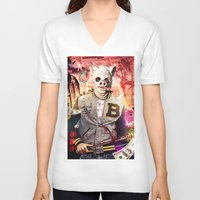 hotline miami V-neck T-shirts featuring Night Out: Hotline Miami by GiancarloVargas