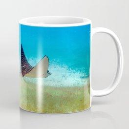 Watercolor Ray, Spotted Eagle Ray 33, St John, USVI Coffee Mug