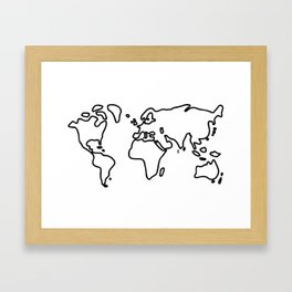 world globe Framed Art Print