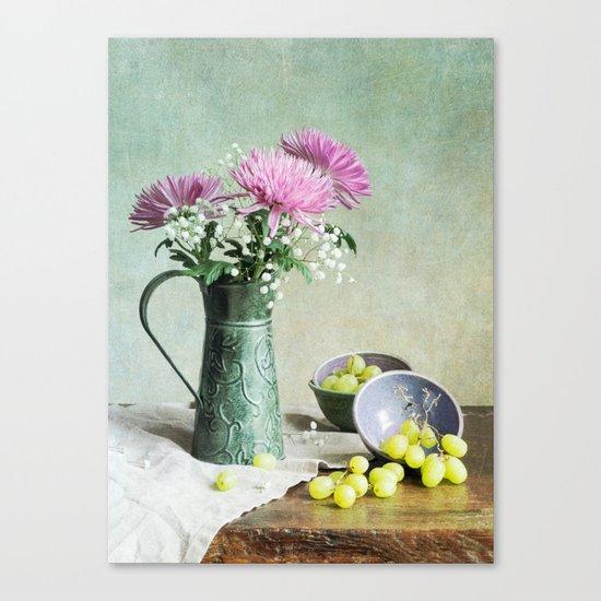 Pink Mums Canvas Print