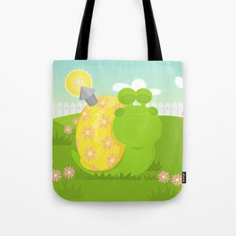 Green Snail (male) Tote Bag