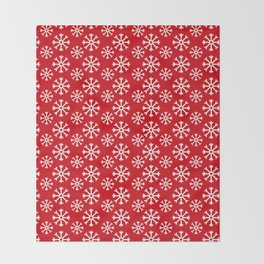 Winter Wonderland Snowflake Snowfall Christmas Pattern Throw Blanket