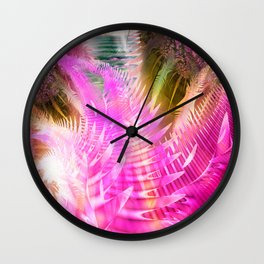 Jane, Colorful tropical abstract Wall Clock