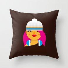B-Girl Throw Pillow