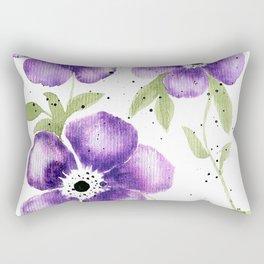 Purple Anenomes Rectangular Pillow