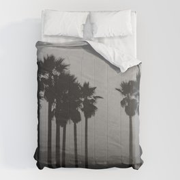 palms against the mountain Comforters