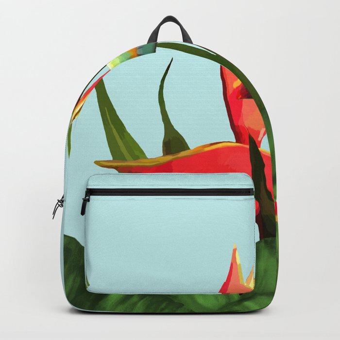 Toucan Tropical Banana Leaves Bouquet Backpack