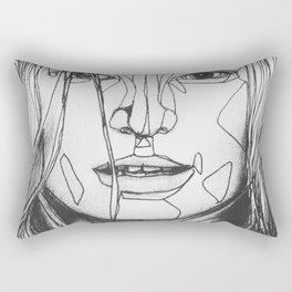 geometric wrinkles Rectangular Pillow