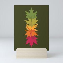 Falling Maple : Green Mini Art Print