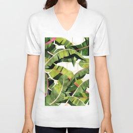 Banana Leaf Salad With Garlic Butter Dressing #painting #illustration Unisex V-Neck