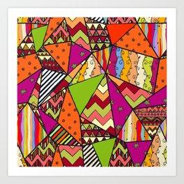 African Style No14, Tribal dance Art Print