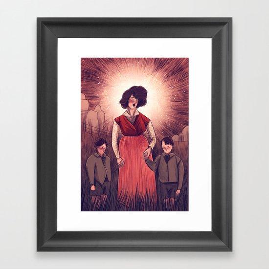 holy agnes Framed Art Print