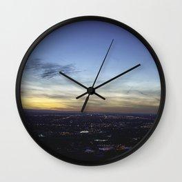 Boise Sunset Wall Clock