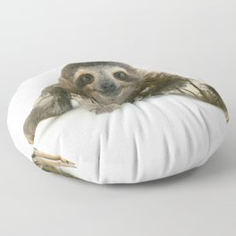 Arctic Sloth Floor Pillow