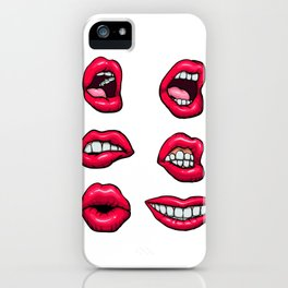 lips set.mouths iPhone Case