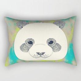floral giant panda Rectangular Pillow
