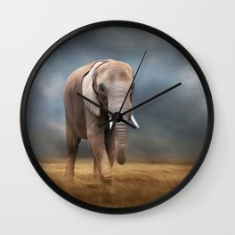 Elephant tour Wall Clock