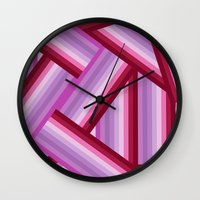 gradient Wall Clocks featuring Gradient by Louise Machado
