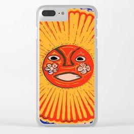 The sun Huichol art Clear iPhone Case