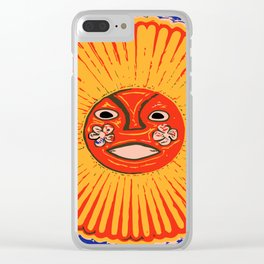 The sun Huichol art Clear iPhone Case