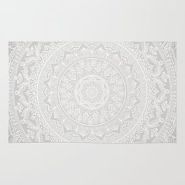 Mandala Soft Gray Rug