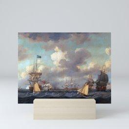 Dominic Serres English Ships Coming to Anchor in a Fresh Breeze Mini Art Print