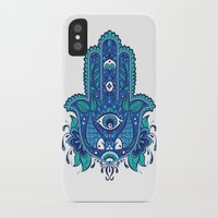 hamsa iPhone & iPod Cases featuring Hamsa by Miss Chat*Z