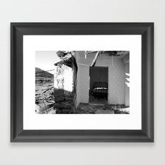 The house that collapsed.  Framed Art Print