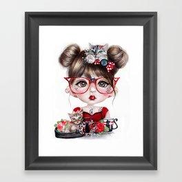 Cat Crazy Chloe - MunchkinZ Elf - Sheena Pike Art & Illustration Framed Art Print
