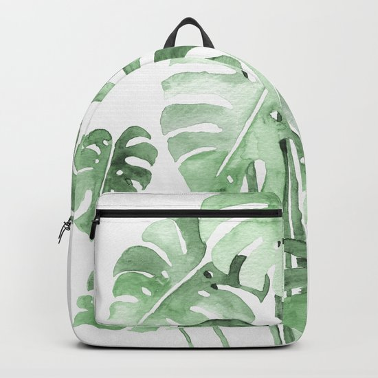 Delicate Monstera Green #society6 Backpack