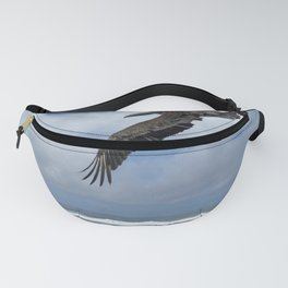 Pelican above the beach Fanny Pack