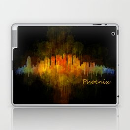 Phoenix Arizona, City Skyline Cityscape Hq v4 Dark Laptop & iPad Skin