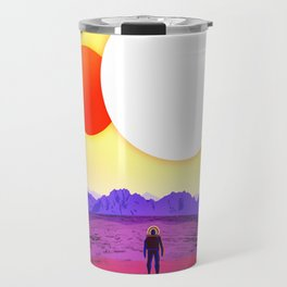 NASA Space Travel Retro Poster Kepler- 16B Travel Mug
