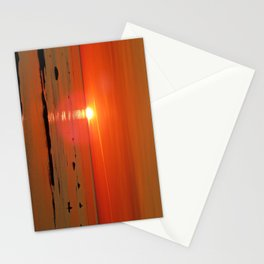 Kayaker and the Setting Sun Stationery Cards
