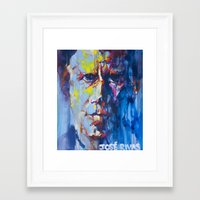 tom waits Framed Art Prints featuring Tom Waits by Jose Rivas