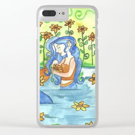 Sunflower Mermaid Clear iPhone Case