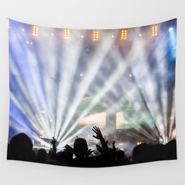 Concert Light Show Wall Tapestry