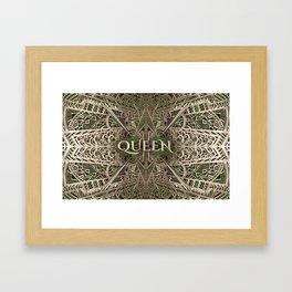 Bronze & Green Queen Framed Art Print