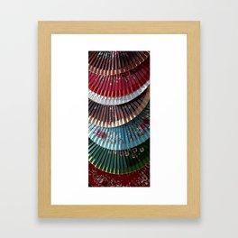 Asian fans Framed Art Print